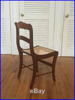 Set of 6 six Victorian hand carved walnut dining side chairs cane seats 1800s