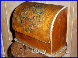 Stunning Antique English Hand Painted Table Stationary Box, c1890