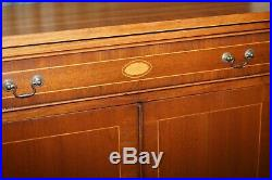 Stunning Hand Made In England Solid Mahogany Sideboard Bookcase With Drawer