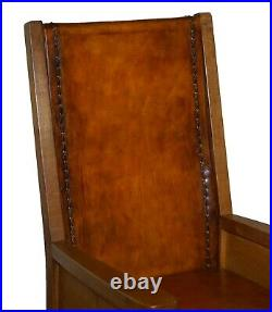 Sublime Circa 1950's Hand Dyed Brown Leather Robert Mouseman Thompson Armchair