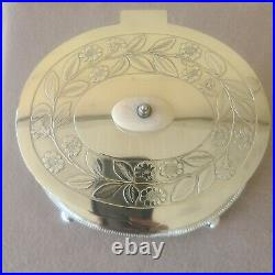 Superb 19th Century English Hand Chased Silverplate Squirrels Biscuit Barrel
