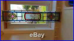 Superb Victorian Collection Of Hand Painted Stain Glass With Many Extra Pieces
