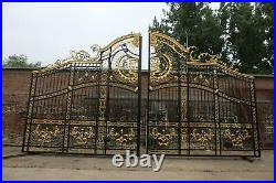 The Best Hand Made Wrought Iron Victorian Style Driveway Gates On Ebay Im100
