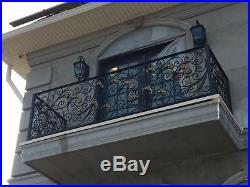 The Best Hand Made Wrought Iron Victorian Style Estate Railing Rk2
