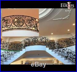 The Best Hand Made Wrought Iron Victorian Style Estate Staircase Railing Rk1