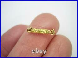Tiniest Antique Georgian Victorian 18ct Gold Hand Engraved Clasp Excellent Cond