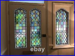 Traditional Hand Made Stained Glass Windows Door Panels Made New Victorian Etc
