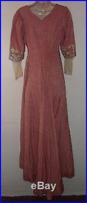 VICTORIAN Tea Reform Dress bustle dress hand made 1890's UK 10 US 8 EU 38