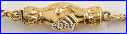 Victorian 14K Gold Necklace w CLASPING HANDS