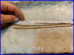 Victorian Antique Hand Figa Fist Pendant heart Locket Fob Charm Necklace c1880