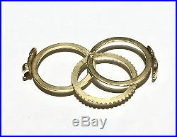 Victorian Fede Gimmel 14k 14Ct Yellow Gold Wedding Clasped hands betrothal Ring