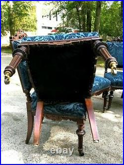 Victorian Hand Carved Chairs Set of 8