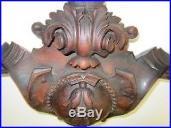 Victorian Hand Carved Solid Rosewood Ornamentation Antique (#5)