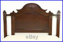 Victorian Hand Carved Walnut Antique 1860's Queen Size Bed #30210