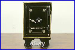 Victorian Iron Antique Combination Safe, Hand Painting, Dreher Milwaukee #31490