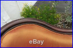 Victorian Late 1800s Hand Carved Loveseat Settee Sofa Couch 9979
