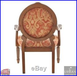 Victorian Style Antique Hand-Carved Wood Arm Accent Chair MidCentury Lounge Side