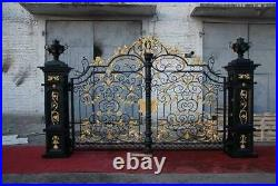 Victorian Style Cast And Hand Wrought Iron Driveway Gates Wr78