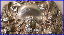 Victorian sterling Repousse (ornate) hand mirror
