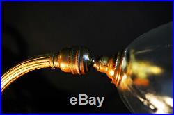 Vintage 1940s W. A. S. Benson style art nouveau desk lamp Victorian hand made shad