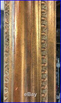 Vintage Abe Munn Fine frame guild antique gold leaf hand finished ornate carved