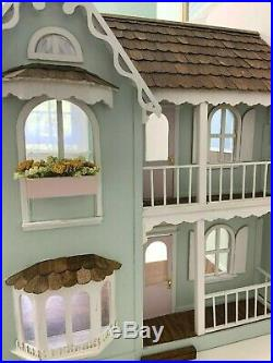 Vintage Cambridge Whitney Wood Charming Victorian Dollhouse 112 Hand Built