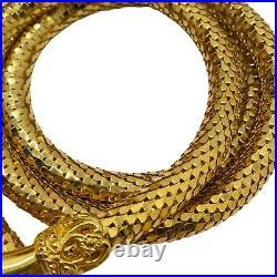 Vintage DL AULD Mesh Belt necklace Hands on ends Victorian Style Gold Tone 41