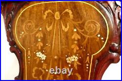 Vintage Hand Carved SETTEE Sofa Love Seat. Inlays of M-of-P &Woods. Brass Tacks