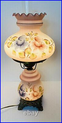 Vintage Hand Painted 3-Way 1972 L&L WMC Gone With The Wind Hurricane Lamp 20