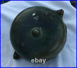 Vintage Victorian Hand Crank Door Bell brass and cast iron