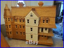 Vintage Victorian Real Wood Dollhouse LARGE Hand Made 6' x 6' x4' Local Pickup